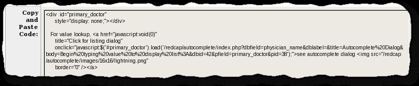 REDCap Autocomplete Plugin - REDCap Documentation - UIowa Wiki