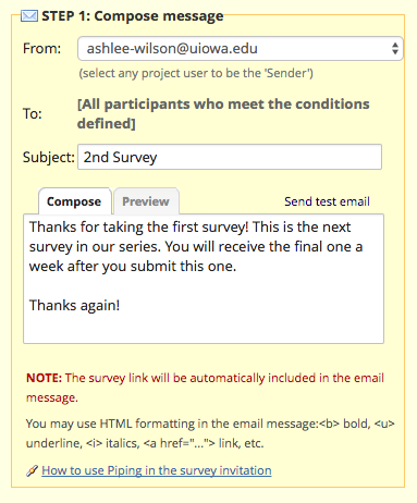Automated survey invitations redcap documentation uiowa wiki what the email message will say when the survey gets sent automatically to the participant you can use piping here if youd like to insert participants stopboris Gallery