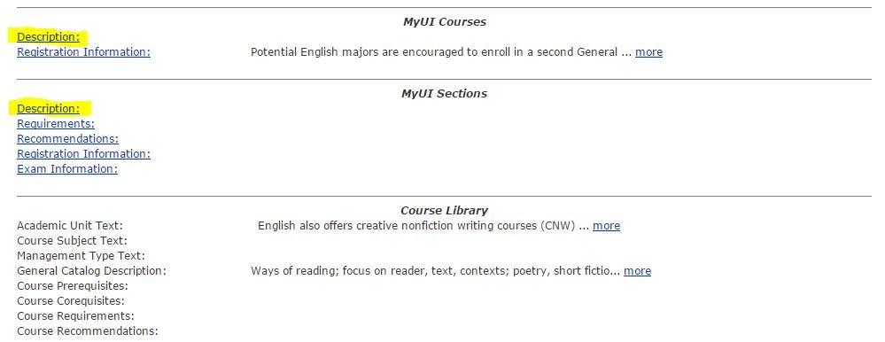 Course Descriptions - MAUI - Help - UIowa Wiki