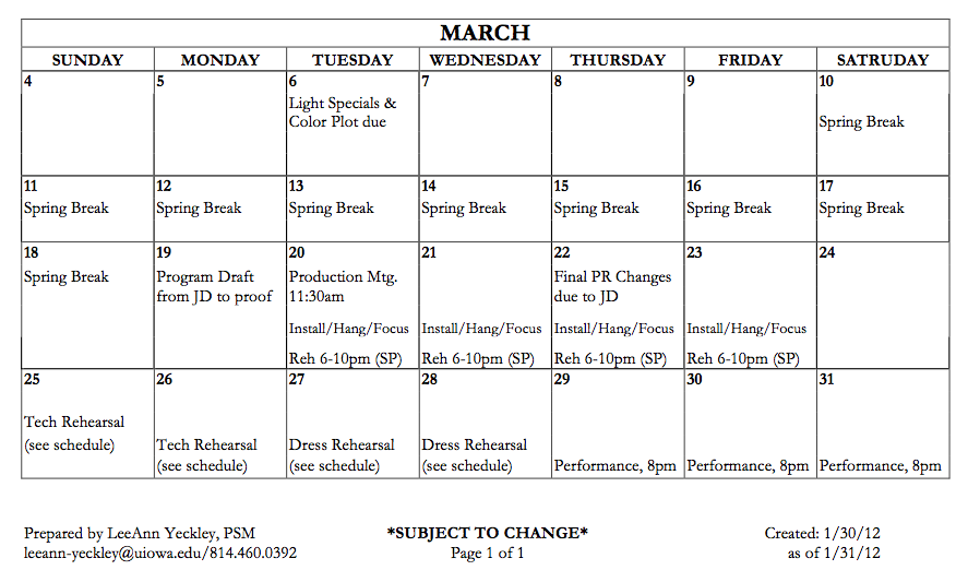 Print A Pdf Of The Production Calender