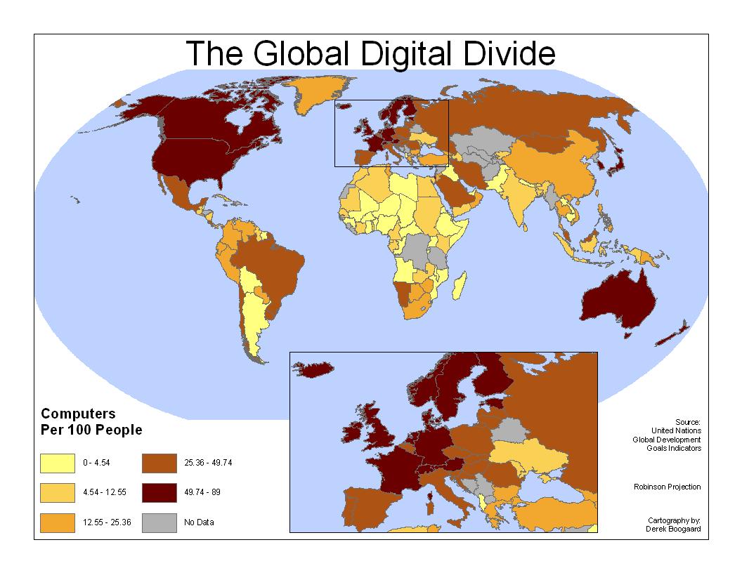 Den globala digitala klyftan.