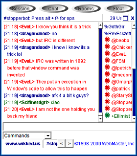 Chat rooms site