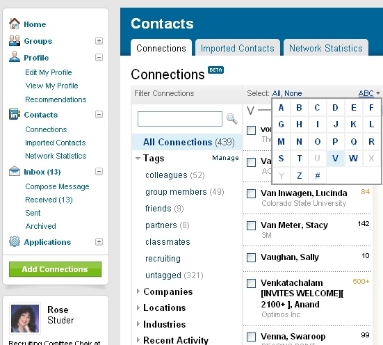 how to use linkedin connections for job search