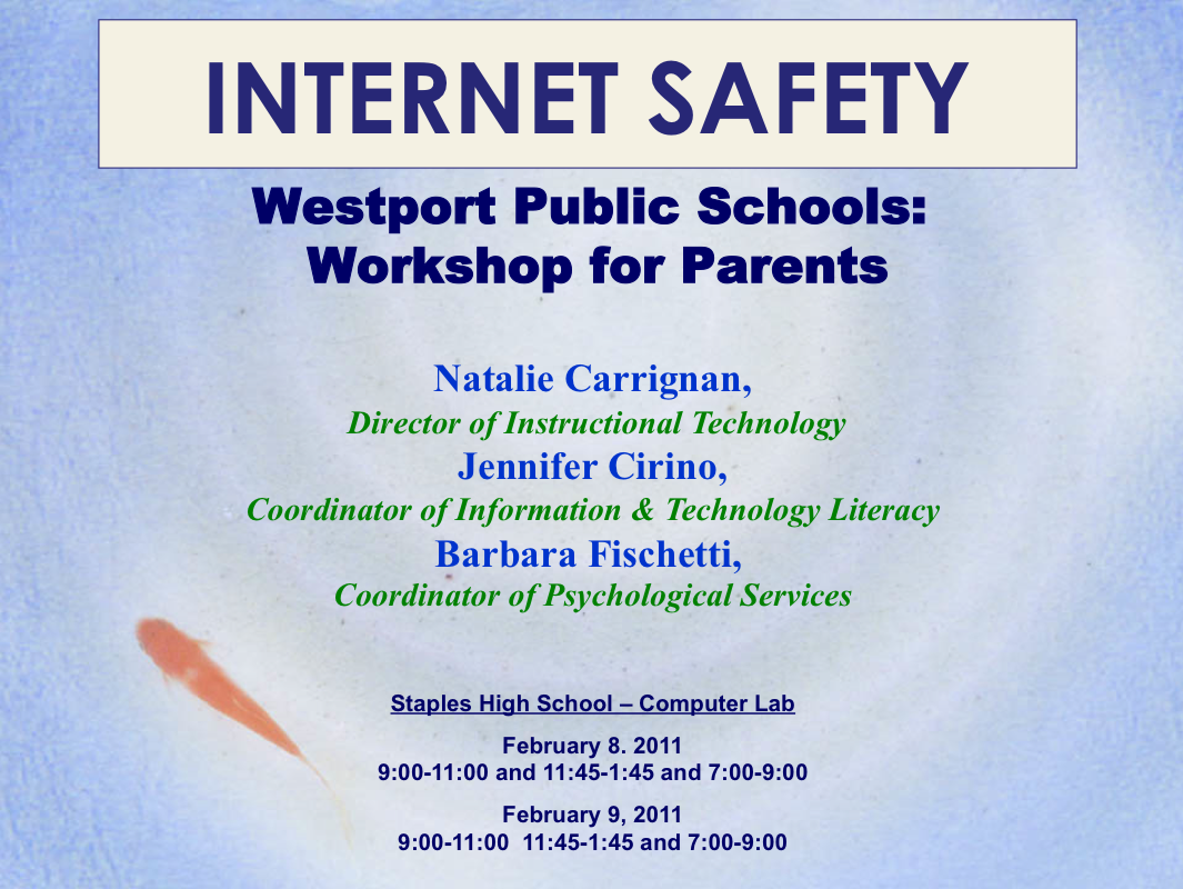 School and Internet Safety FA11_07ES102_EXW - Education Technology